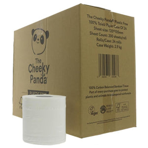 The Cheeky Panda | Bamboo Toilet Tissue 24 Rolls | 1 X 24 Rolls. This Product Is :- Vegan