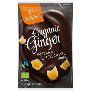 Landgarten | Ginger In Dark Chocolate Vegan | 1 x 70g | Landgarten