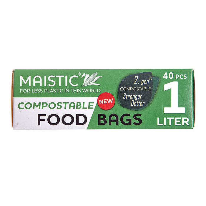 Maistic | 2.gen Compostable Food Bag 1ltr | 1 x 40s