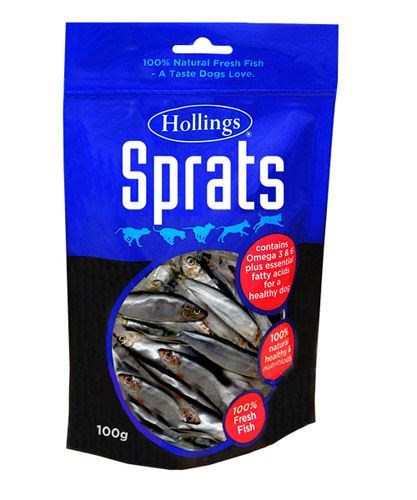 Hollings | Sprats For Dogs | 1 x 100g