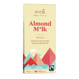 Pico | Organic Almond M*lk Chocolate | 1 X 80g. This Product Is :-