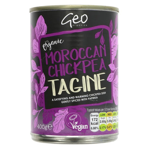 Geo Organics | Moroccan Chickpea Tagine | 1 X 400g. This Product Is :- Vegan,organic