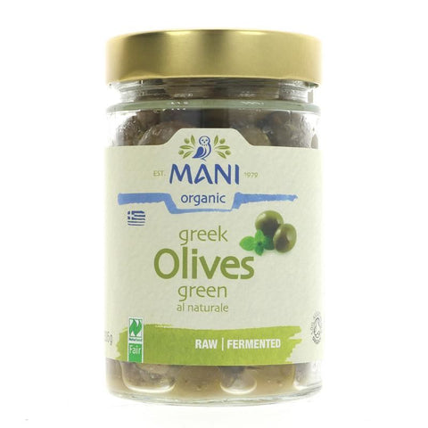 Mani | Og Green Olives Al Naturel | 1 x 205g