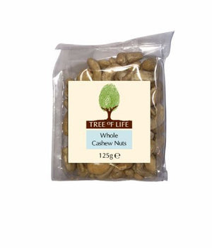 Tree Of Life | Cashew Nuts - Whole | 1 x 125g