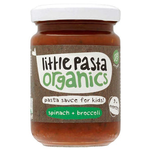 Little Pasta Organics | Spinach & Broccoli Sauce | 1 x 130g | Little Pasta Organics