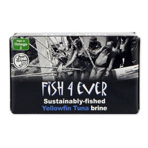 Fish 4 Ever | Yellowfin Tuna Fish In Brine | 1 x 120g | Fish 4 Ever