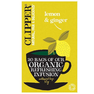 Clipper | Lemon & Ginger - Og | 1 x 20bags | Clipper