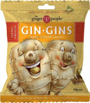 Ginger People | Gin Gin Hard Boiled Candy Bag | 1 x 60g | Ginger People