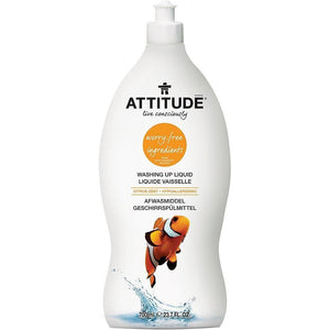 Attitude | Washing Up Liquid - Citrus Zest | 1 x 700ml | Attitude