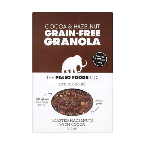 The Paleo Foods Co. | Granola Cocoa & Hazel | 1 X 285g. Sold By Superfood Market