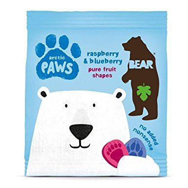 Bear | Paws- Raspberry & Blueberry | 1 X 5 X 20g. This Product Is :- Gluten Free,vegan