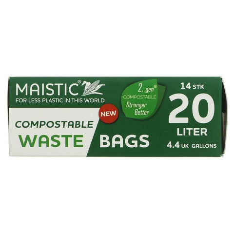 Maistic | Bin Liners 20l - Compostable | 1 x 15 Bags