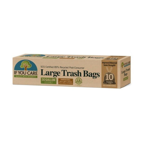 If You Care | 89% Recycled 30 Gallon Trash Bags | 1 x 10 Pack