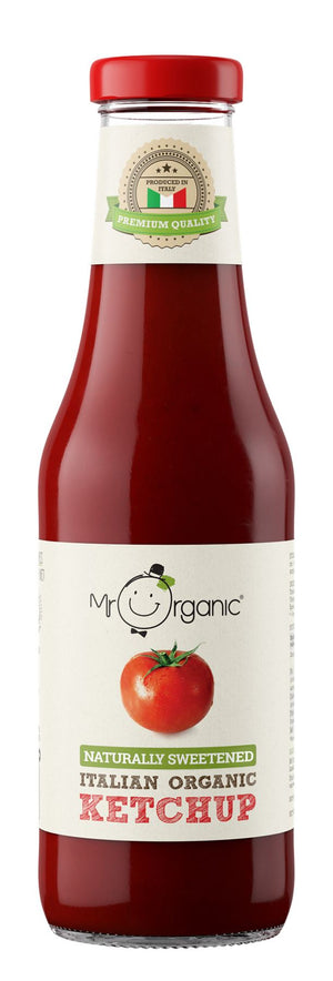 Mr Organic | Naturally Sweetened Ketchup | 1 x 480g | Mr Organic