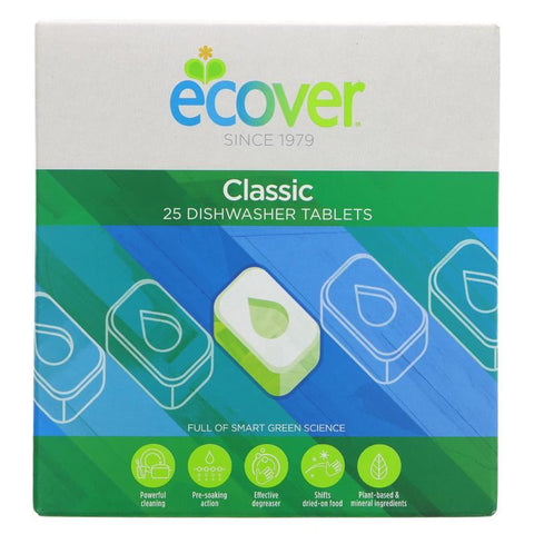 Ecover | Dishwasher Tablets | 1 X 25 Tabs. This Product Is :- Vegan