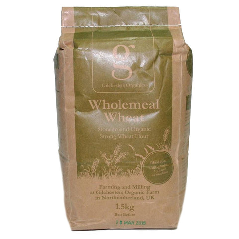 Gilchesters Organics | Strong 100% Whole Wheat Flour | 1 x 1.5kg