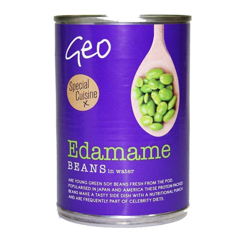 Geo | Edamame Beans In Water | 1 X 400g. This Product Is :- Vegan