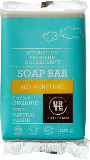 Urtekram | Organic No Perfume Soap Bar | 1 X 100g. Sold By Superfood Market