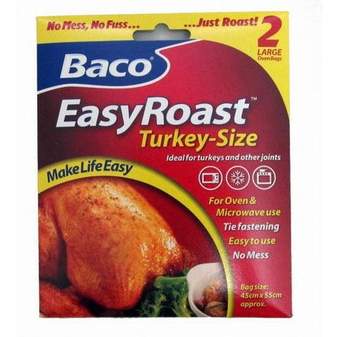 Baco | Easy Roast Turkey Oven Bags | 1 x 2 Pack