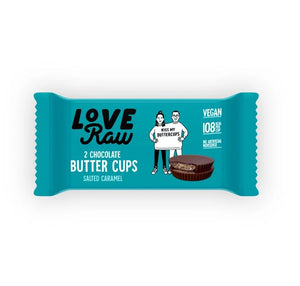 Loveraw | Salted Caramel Butter Cups | 1 x 34g | Loveraw