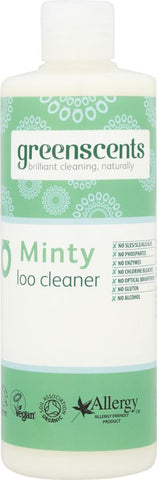 Greenscents | Organic Minty Loo Cleaner | 1 X 500ml. Sold By Superfood Market