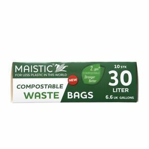 Maistic | Bin Liner 30l - Compostable | 1 x 10 Bags