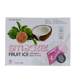 Smooze | Pink Guava & Coconut Fruit Ice | 1 X 5 X65ml. This Product Is :- Vegan
