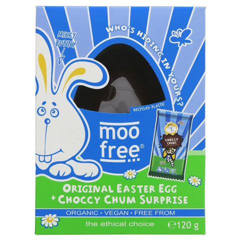 Moo Free | Mikey Bunny White Choccy Egg | 1 X 80g. Sold By Superfood Market