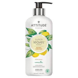Attitude | Super Leaves Hand Soap Lemon Leaves | 1 x 473ml | Attitude