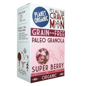 Planet Organic | Super Berry Paleo Granola | 1 X 350g. This Product Is :- Gluten Free,vegan,organic