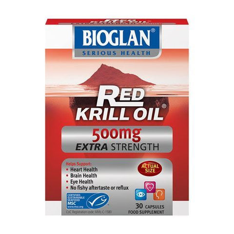 Bioglan | Red Krill Oil 500mg Capsules - Extra Strength | 1 x 30s