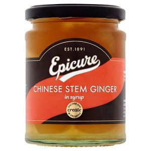 Epicure | Chinese Stem Ginger In Syrup | 1 x 350g | Epicure