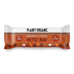 Planet Organic | Organic Hazelnut & Cocoa Keto Bar | 1 X 40g. Sold By Superfood Market