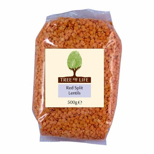Tree Of Life | Split Red Lentils | 1 x 500g