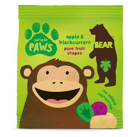Bear | Paws- Apple & Blackcurrant | 1 X 20g. This Product Is :- Gluten Free,vegan