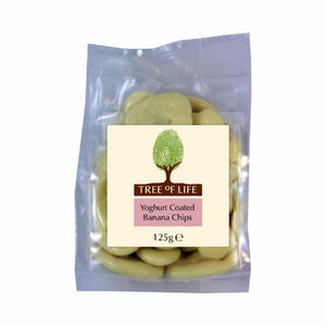 Tree Of Life | Yoghurt Coated Bananas Chips | 1 X 125g. Sold By Superfood Market