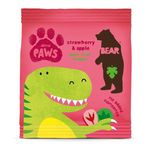 Bear | Paws- Strawberry & Apple | 1 X 20g. This Product Is :- Gluten Free,vegan