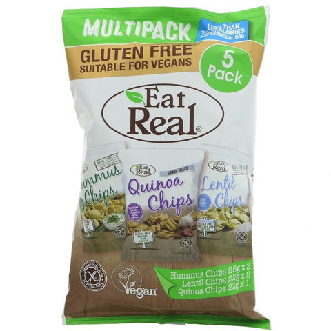Eat Real | Hummus; Lentil; Quinoa Multi | 1 X 116g. This Product Is :- Gluten Free,vegan