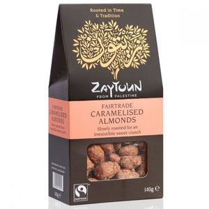Zaytoun | Fairtrade Caramelised Almonds | 1 X 140g. Sold By Superfood Market