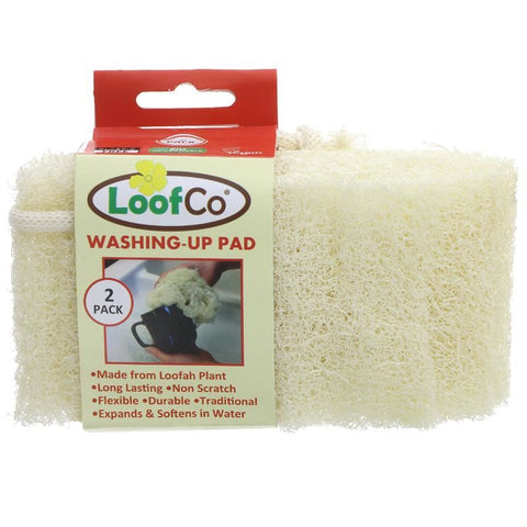 Loofco | Washing-up Pad - 2 Pack | 1 X 2 Pack. This Product Is :- Vegan