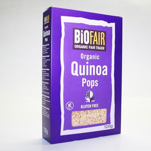 Biofair | Quinoa Pops Organic; Ft | 1 X 120g. This Product Is :- Gluten Free,organic,fairtrade