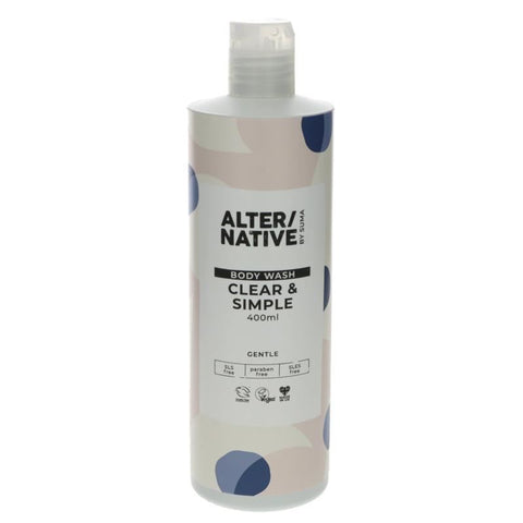 Alter/native By Suma | Clear & Simple Body Wash | 1 X 400ml. This Product Is :- Vegan