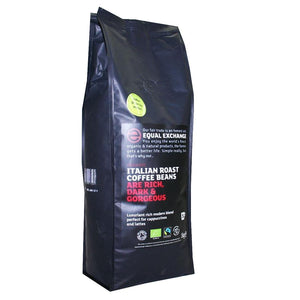 Equal Exchange | Italian Blend Og Coffee Beans | 1 X 1kg. This Product Is :- Vegan,organic,fairtrade
