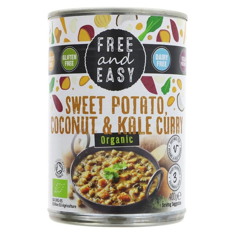 Free & Easy | Sweet Pot/kale/coconut Curry | 1 X 400g. This Product Is :- Vegan,organic