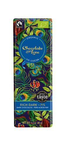Chocolate And Love Ltd | Chocolate & Love  Rich Dark 71% Chocolate | 1 X 40g. Sold By Superfood Market