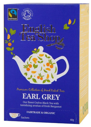 English Tea Shop (uk) Ltd | English Tea Shop  Organic Earl Grey Tea | 1 x 20 Bags | English Tea Shop (Uk) Ltd