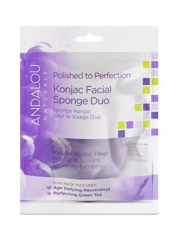 Andalou | Perfection Konjac Facial Sponge Duo | 1 x 2 Pack