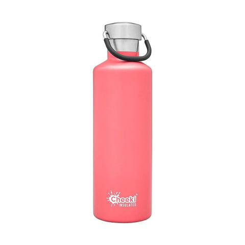 Cheeki | 600ml Insulated Classic Bottle Pink | 1 X 600ml. Sold By Superfood Market