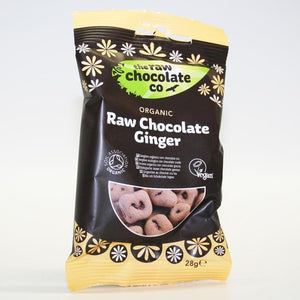 The Raw Chocolate Co | Raw Chocolate Covered Ginger | 1 X 28g. This Product Is :- Gluten Free,vegan,organic