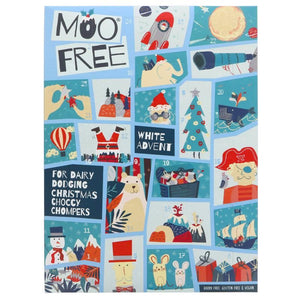 Moo Free | Kids White Choc Alt Advent | 1 X 70g. Sold By Superfood Market